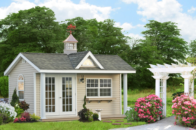 Swimming Pool House Sheds and Cabanas - Traditional - Shed ...
