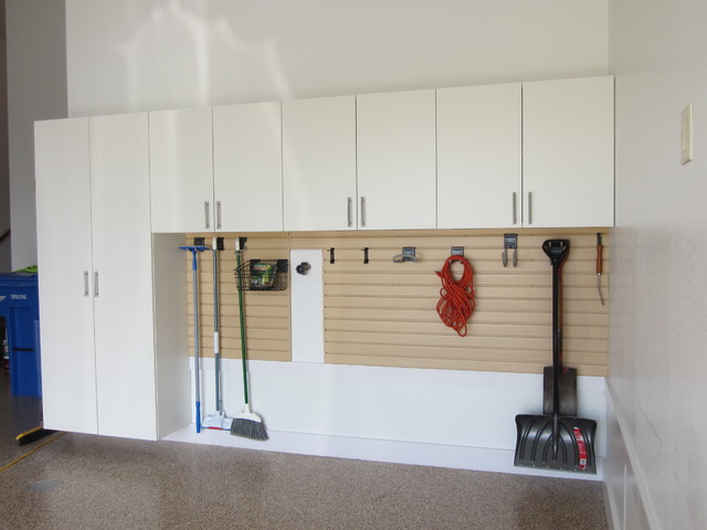 Tailored Living Garage Cabinets and Slatwall - Traditional - Shed - Other - by Tailored Living