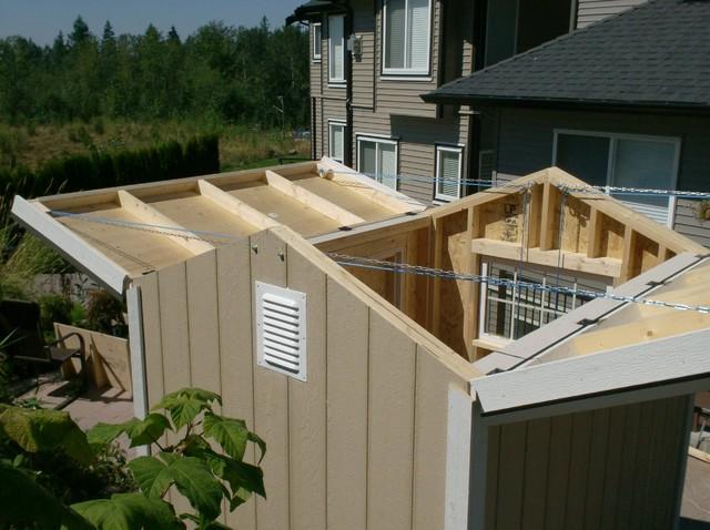 Telescope observation shed open classique abri vancouver par backyard works - Toit amiante obligation de le changer ...