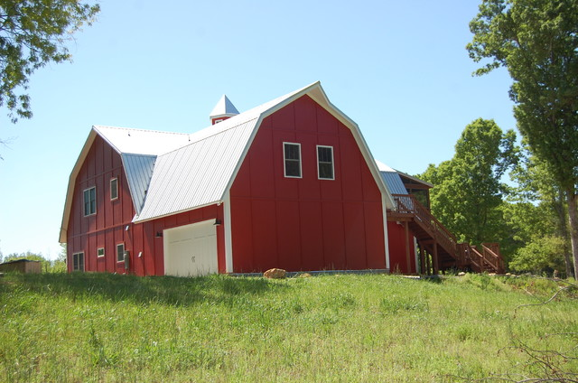 The Barn House traditional-garage-and-shed
