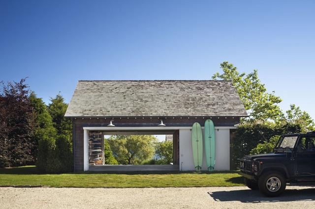 The barn for Drive through garage door