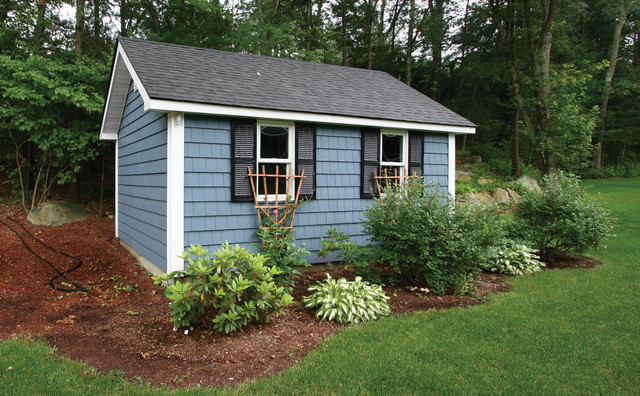 The foundry siding cedar shingle traditional garage for Cedar shingle shed