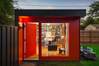 Garden Sheds Kansas City the studio - modern - garden shed and building - kansas city -