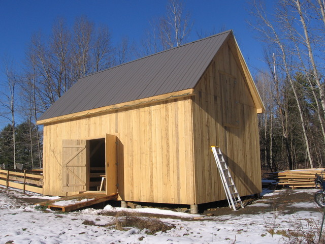 Timberframe Sheep Barn - Traditional - Garage And Shed - burlington - by New Frameworks Natural ...