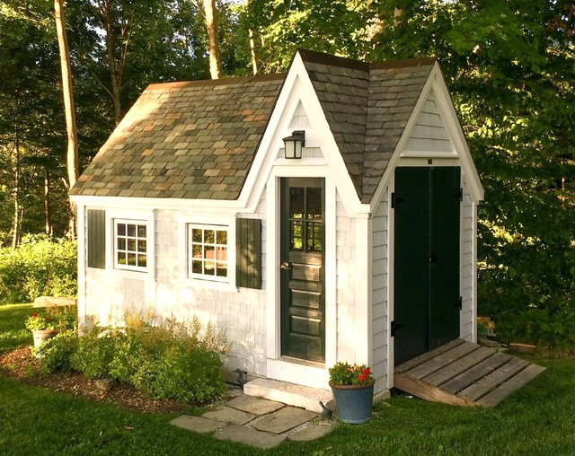 Tiny House storage ShedStudio Victorian Garden Shed and