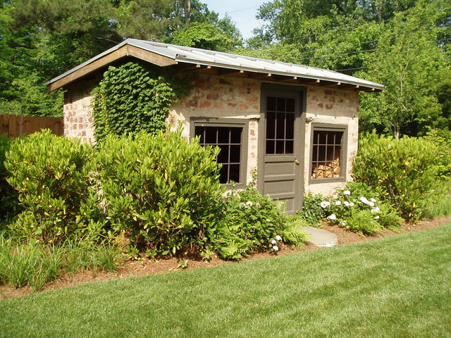 Residence on the Chattahoochie River traditional garage and shed