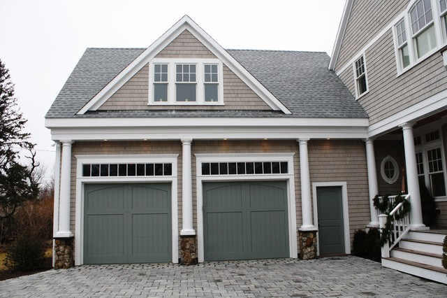 New Home on Third Cliff traditional-garage-and-shed