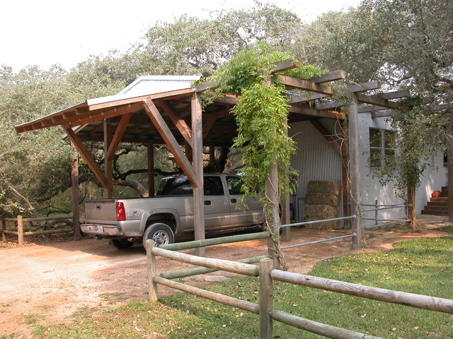 Trailer House Remodel industrial-garage-and-shed