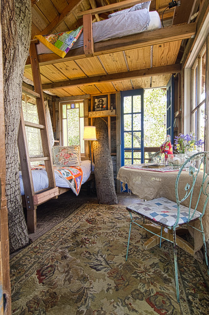 Treehouse rustic-garage-and-shed