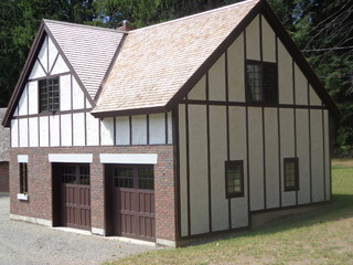Tudor Style Garage Shed Boston By Remodeling