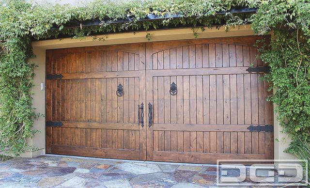 Tuscan Garage Door 04 | A Designer Door in Solid Wood, Decorative Iron Hardware! - Traditional ...