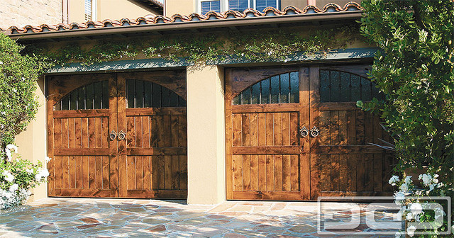Tuscan Garage Door 09 | Architectural Design With Iron Hardware & Antique  Glass! rustic- - Tuscan Garage Door 09 Architectural Design With Iron Hardware