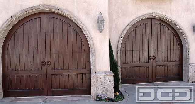 Tuscan Garage Door 12 Arched Top Doors With Decorative Iron Hardware Eclectic Granny