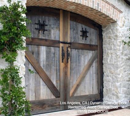 Tuscan Garage Door Designs In Reclaimed Barn Wood Eco