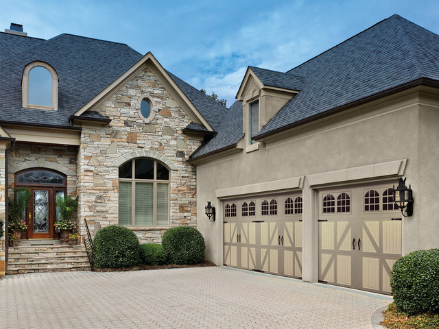 Two Tone Classica Garage Doors Traditional Garage And