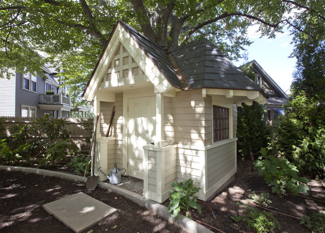 Victorian Splendor traditional-garage-and-shed