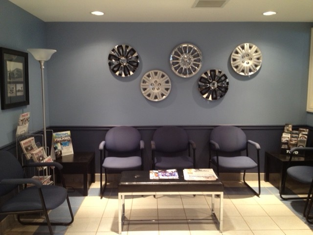 Waiting Room In A Tire Store Contemporary Shed