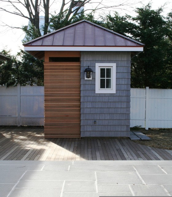 Warren Avenue transitional-garage-and-shed