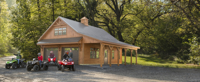 Weaver barns rustic shed cleveland by weaver barns for Amish garage builders cleveland ohio