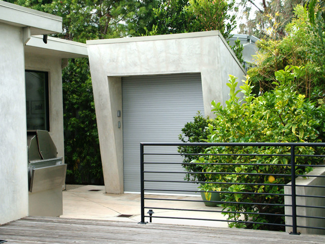 westside residence contemporary garage and shed