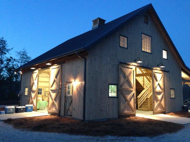 White Barn traditional-garage-and-shed