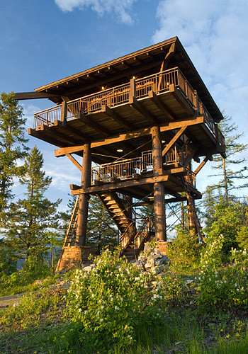 Whitefish Family Lookout Tower Rustic Garage And Shed