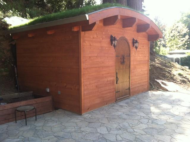 Wine cellar mediterranean garage and shed san for Garage wine cellar