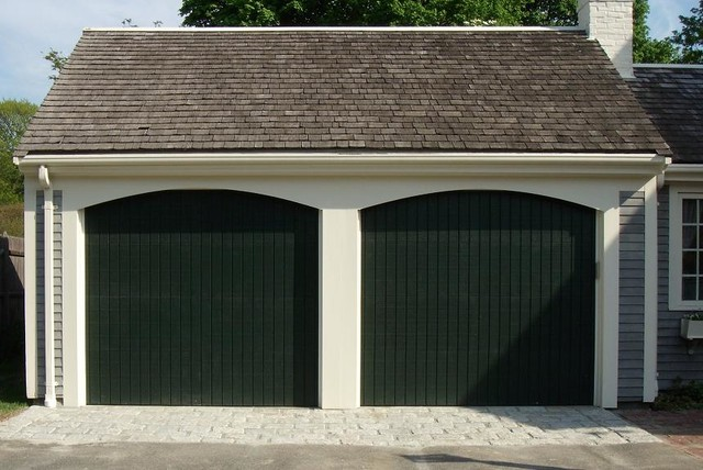Wood composite garage doors modern shed boston by for Composite wood garage doors