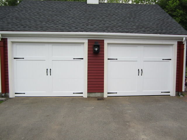 Wood composite garage doors modern garage and shed for Composite wood garage doors