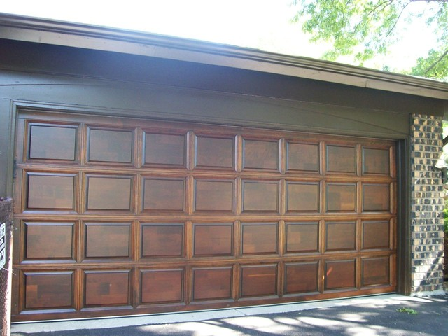 Wood Garage Door Refinishing - Contemporary - Shed - chicago - by Painting in Partnership, Inc.
