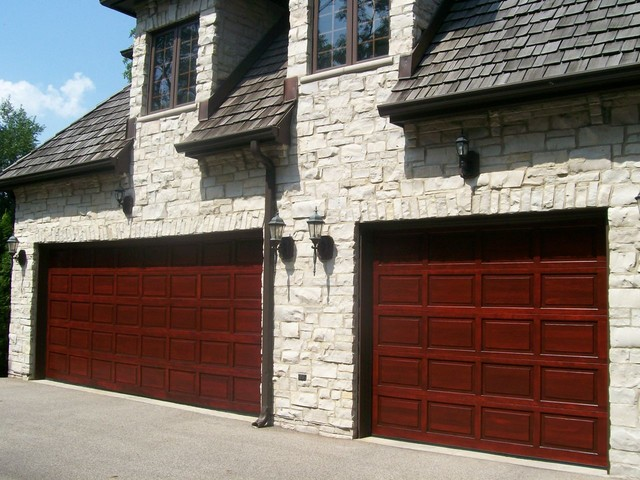 Bon Wood Garage Door Refinishing Traditional Shed