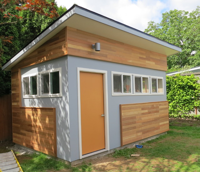 Build Backyard Man Cave : Woodshop  Music Room (Riki Room)  Contemporary  Shed  other