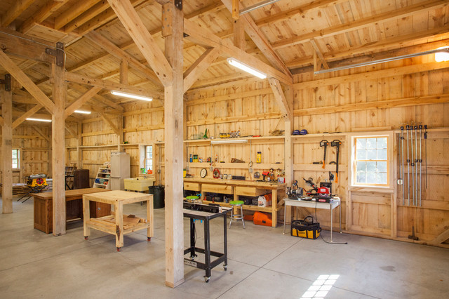 Workshop with Loft Living - Farmhouse - Garage And Shed - other metro - by Sand Creek Post u0026 Beam