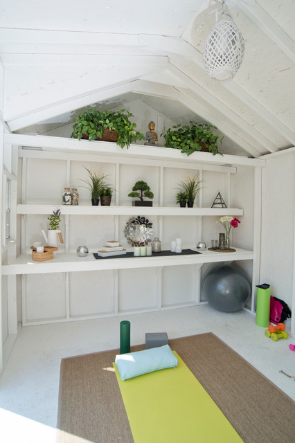 yoga shed shabby chic style garden shed and building