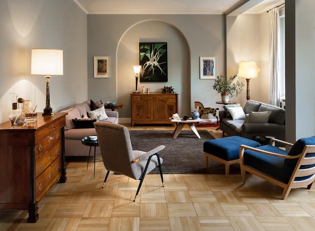 Appartamento anni 39 30 eclettico salotto torino di tomdesign - Come arredare casa con pochi soldi ...