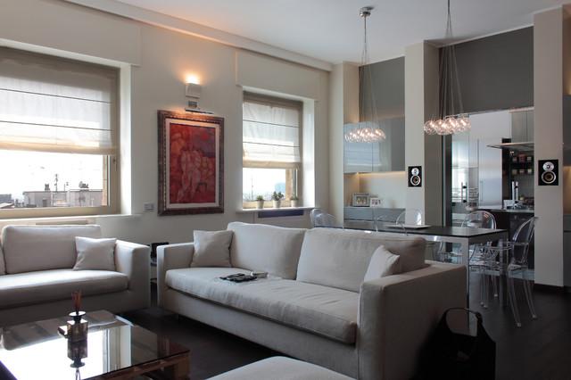Soggiorno Moderno A Milano.Appartamento Moderno A Milano Contemporaneo Soggiorno Milano