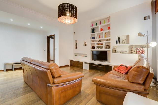 Appartamento parioli 2016 roma modern family room for Appartamento design roma