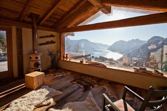 Casa a civenna in montagna salotto milano di marco castelletti studio di architettura - Tende casa montagna ...