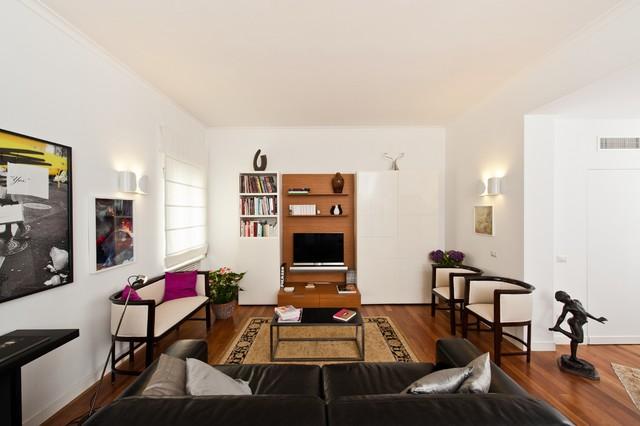 Casa ac moderno soggiorno roma di architetto elena - Soggiorno moderno roma ...