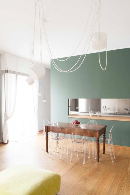Casa CC contemporaneo-soggiorno