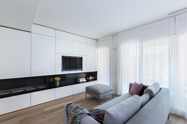 Casa di Nuova Costruzione a Milano - Moderno - Soggiorno - Milano ...