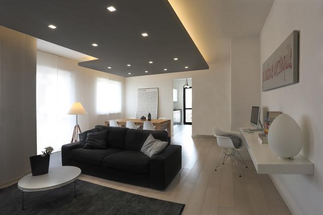Casa Moderna Bianca.Casa Elle Bianca E Grigia Contemporary Living Room