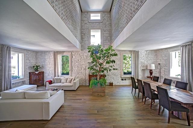 Casa in Lombardia contemporaneo-soggiorno