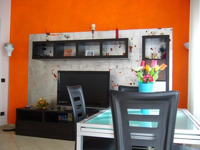 Salotto Con Decorazioni Floreali Su Parete Interior Design : Decorazione a foglia d argento per parete salotto