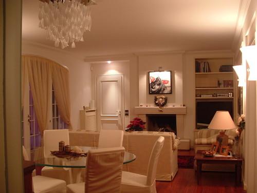 soggiorno classico :prima e dopo l'intervento - Illuminazione Salotto Classico