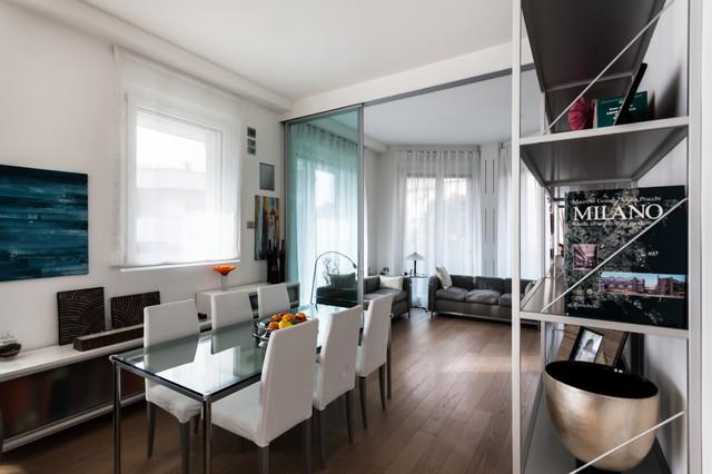 appartamento moderno contemporaneo soggiorno milano