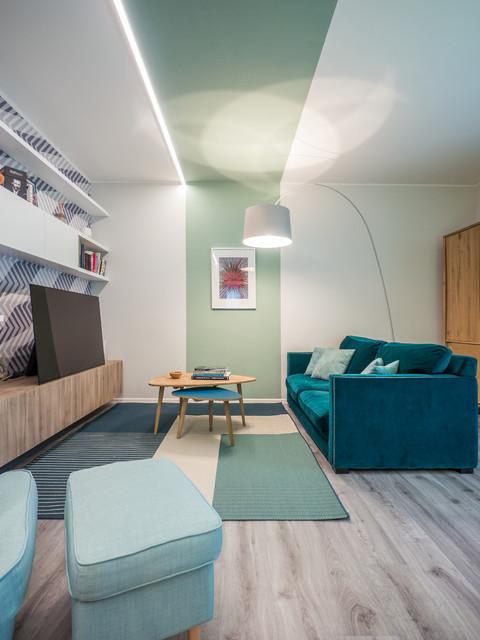 Il Colore per Definire lo Spazio contemporaneo-soggiorno