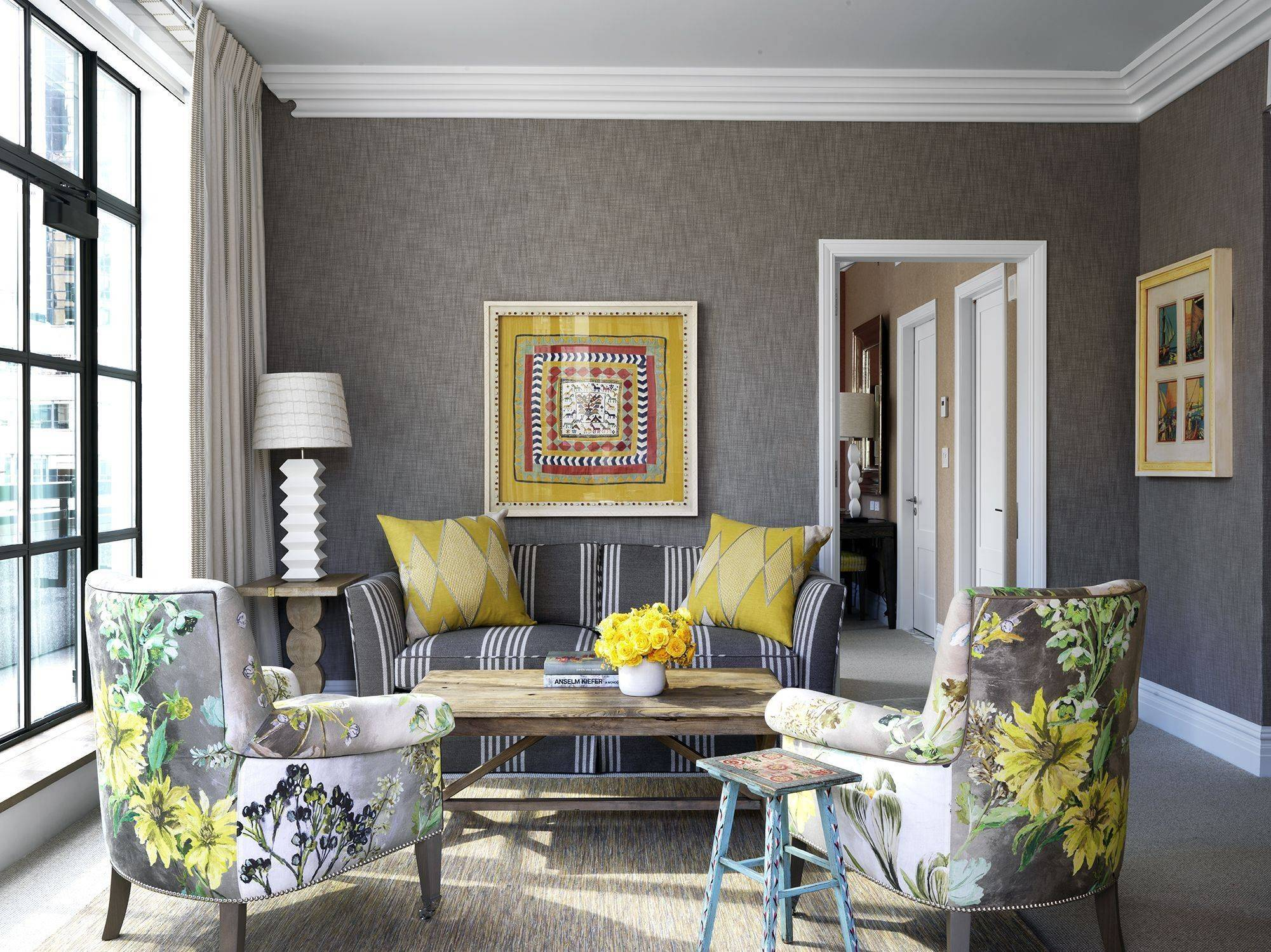 Gray And Yellow Living Room Houzz
