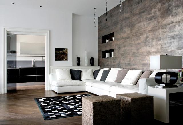 Il gioco dei contrasti contemporaneo soggiorno for Gioco di arredamento