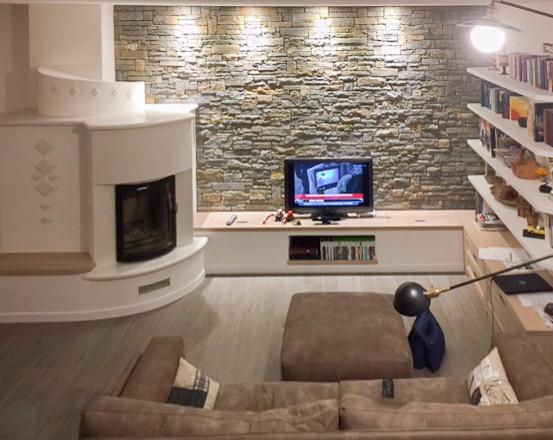 Il Rustico Con La Stube Modern Wohnzimmer Mailand Von Liadesign
